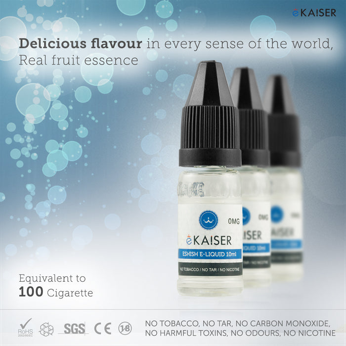 E liquid |Blue eKaiser Range | Peach 10ml | Refill For Electronic Cigarette & E Shisha - eKaiser - CIGEE