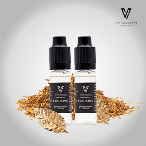 E-liquids,0mg,10ml,2 Pack,Vapoursson,Gold Tobacco