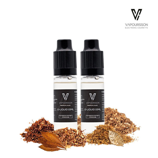 E-liquids,0mg,10ml,2 Pack,Vapoursson,Tobacco