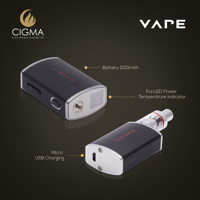 Cigma Mini Mod Box - Refillable & Rechargeable Kit | Cigee