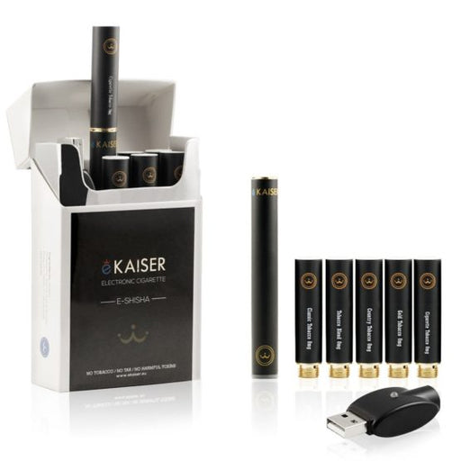 Electronic Cigarette Starter Kit | New and Improved version - E Shisha Pen | E Cigarette | eKaiser | 5 x Premium e Liquid Tobacco Flavours
