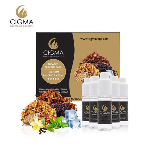 Cigma liquid 5 x 10ml Tobacco Flavour