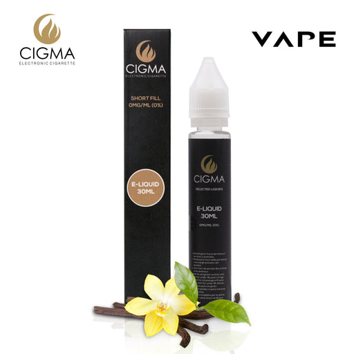 Shortfill, 30ml, 0mg, Cigma, Vanilla