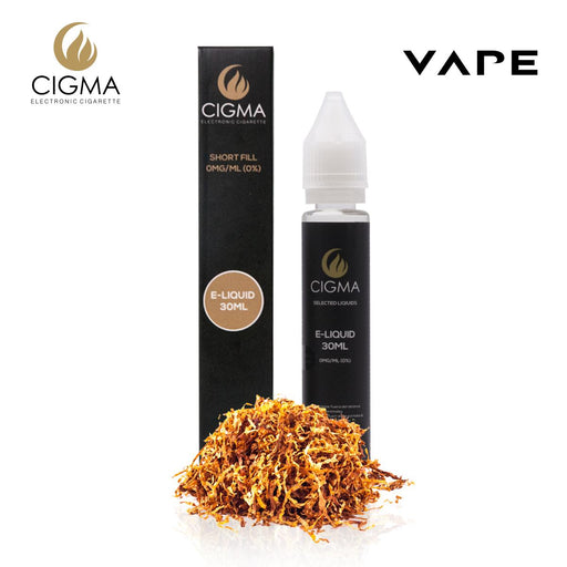 Shortfill, 30ml, 0mg, Cigma, Gold Tobacco