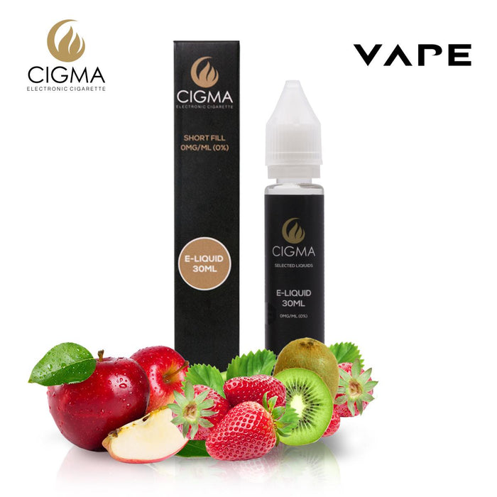 Shortfill, 30ml, 0mg, Cigma, Apple Kiwi Strawberry