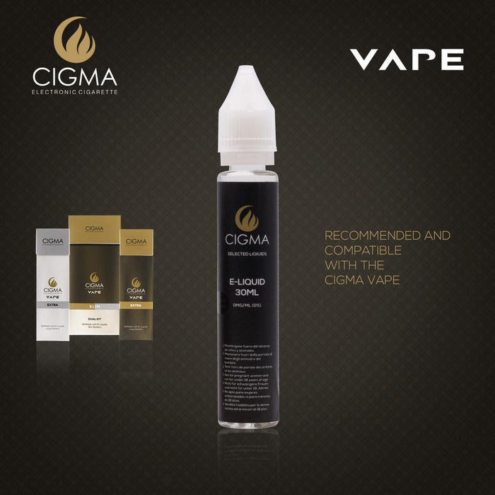 Cigma e-Liquid - Classic Tobacco 0mg 30ml Shortfill | Cigee