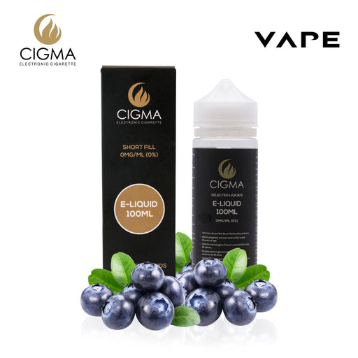 Shortfill, 100ml, 0mg, Cigma, Blueberry