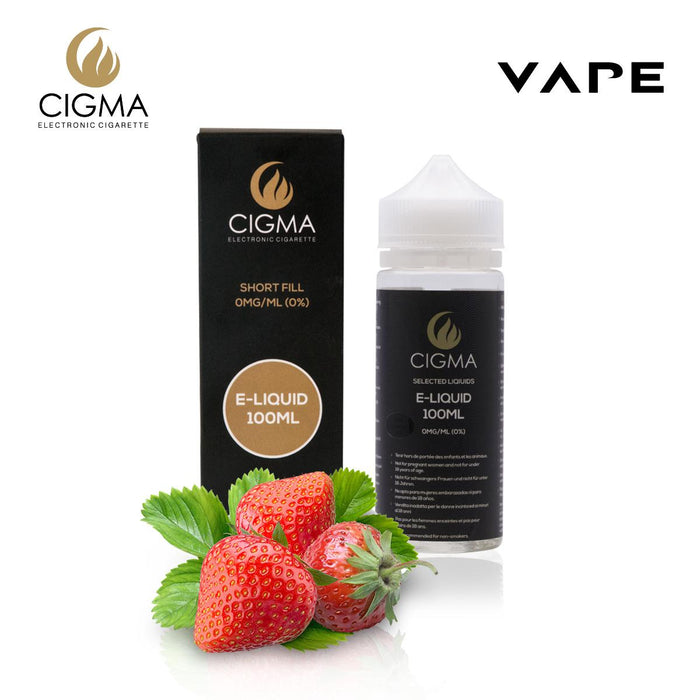 Shortfill, 100ml, 0mg, Cigma, Strawberry