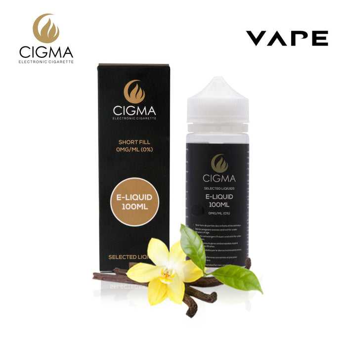 CIGMA Vanilla 100ml E Liquid 0mg