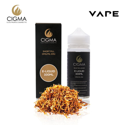 Shortfill, 100ml, 0mg, Cigma, Gold Tobacco