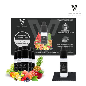 E-liquids,0mg,10ml,Cleanser,6Pack,Vapoursson