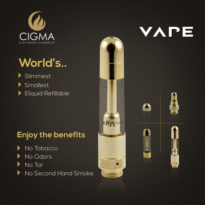 Cigma Vape Extra Gold Clearomizer - Cigma - CIGEE Clearomizers