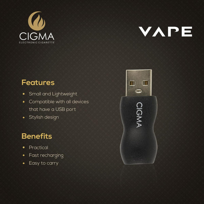 Cigma Vape USB For Slim Battery | USB Charger | Power Adapter - Cigma - CIGEE Chargers