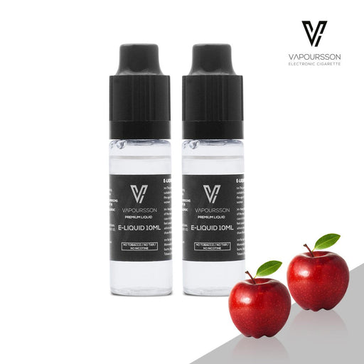 E-liquids,0mg,10ml,2 Pack,Vapoursson,Apple