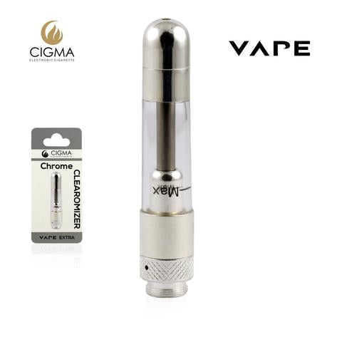 Cigma Clearomizer for Cigma Vape e-Cigarette - Extra - Chrome