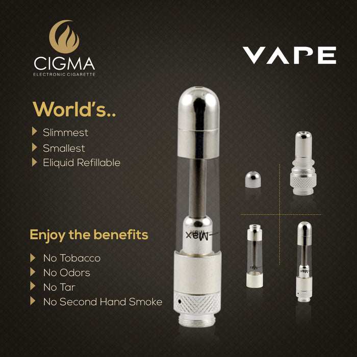 Cigma Vape Extra Clearomizer Chrome - Cigma - CIGEE Clearomizers