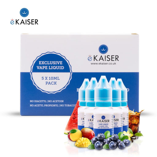 E-liquid,10ml,0mg,5 Pack,Tobacco and Coffee,ekaiser