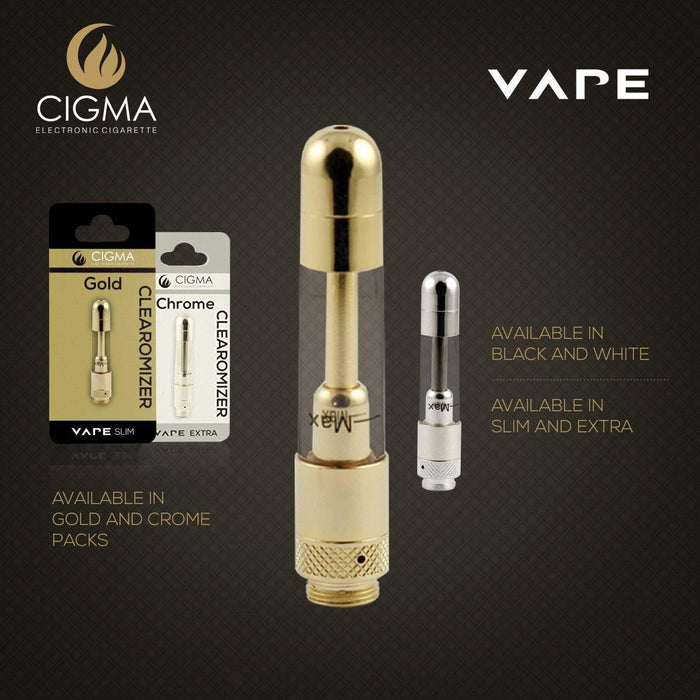Cigma Clearomizer for Cigma Vape e-Cigarette - Slim - Gold | Cigee