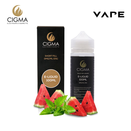 Shortfill, 100ml, 0mg, Cigma, Watermelon Mint