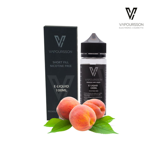Shortfill, 100ml, 0mg, Vapoursson, Juicy Peach