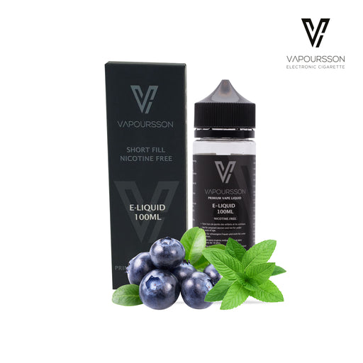 Shortfill, 100ml, 0mg, Vapoursson, Blueberry - Menthol