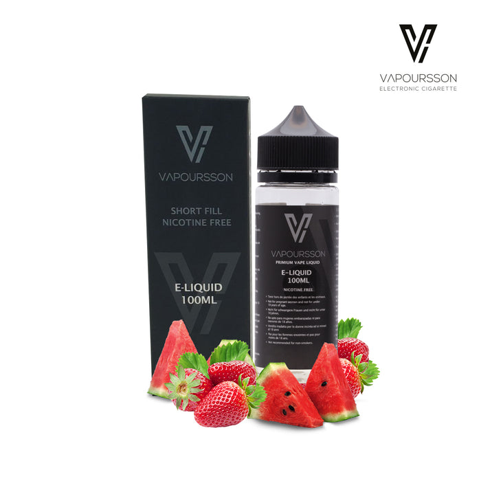 Shortfill, 100ml, 0mg, Vapoursson, Strawberry - watermelon