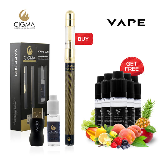 Cigma Slim Black with 10ml Tobacco liquid + eLiquid, 105856, 106130