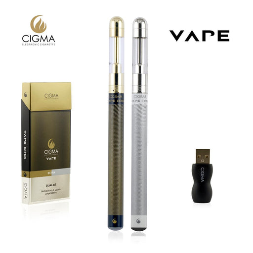 Cigma e-Cigarette Dual Extra - Refillable & Rechargeable Starter Kit | Cigee