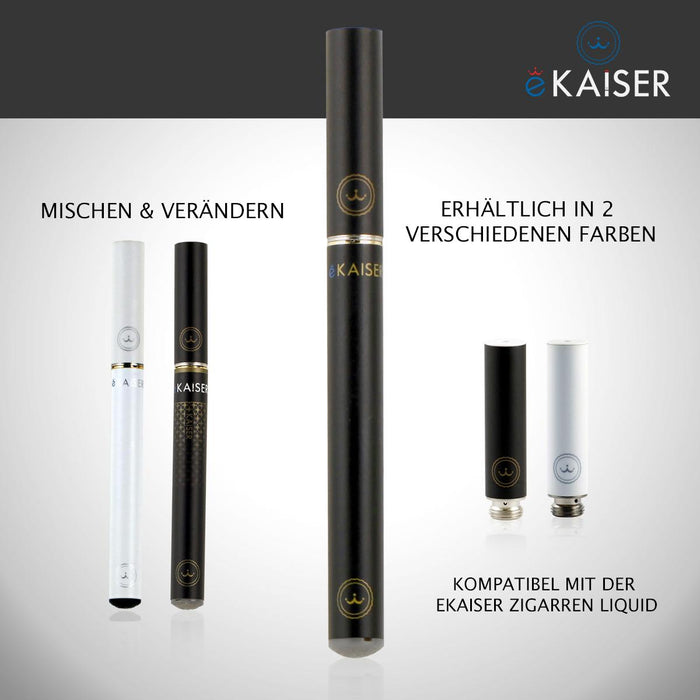 eKaiser e-Cigarette Black Cartomizer - Cigarette Tobacco 0mg x 5 Pack | Cigee