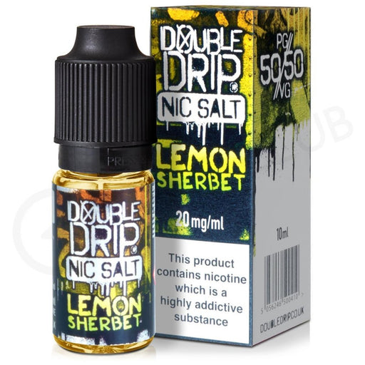 Double Drip Nic Salt Lemon Sherbet 20mg 10ml