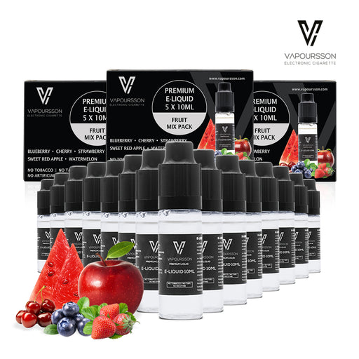Vapoursson liquid 5 x 10ml Mixed Fruit 3 Pack bundle