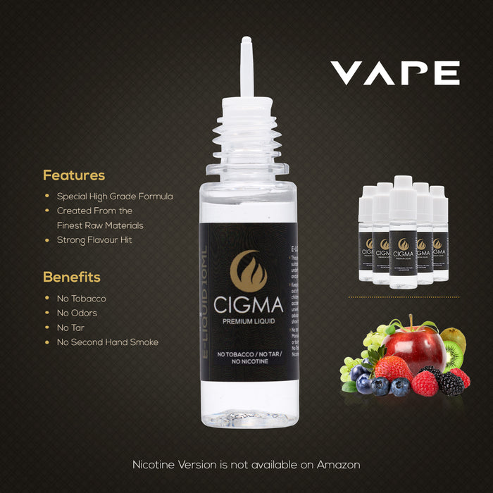 Cigma e-Liquid - Berry Mix 0mg 10ml Bottle x 15 Pack | Cigee