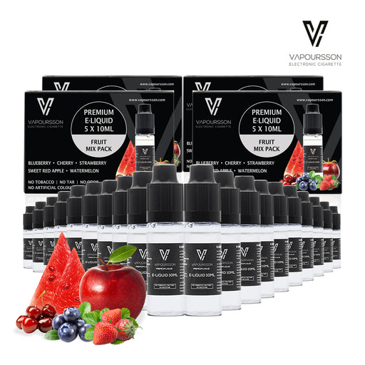 Vapoursson liquid 5 x 10ml Mixed Fruit 5 Pack bundle