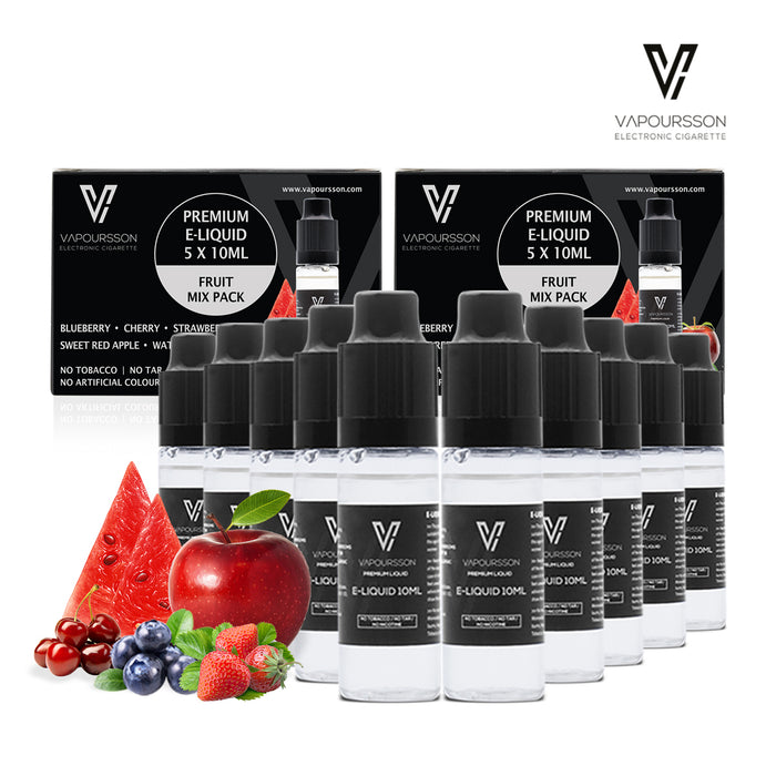 Vapoursson liquid 5 x 10ml Mixed Fruit 2 Pack bundle