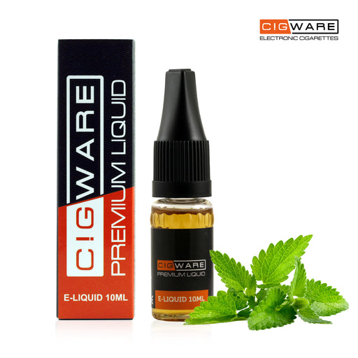 Cigware E liquid 10ml Bottle | Mint Flavour | Best Custom Forumla Only | Refill For E cigarette and E Shisha | Money Back If Unsatisfied