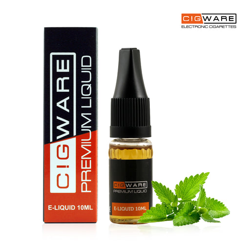 Cigware E liquid 10ml Bottle | Menthol Flavour | Best Custom Forumla Only | Refill For E cigarette and E Shisha | Money Back If Unsatisfied
