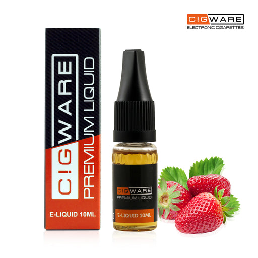Cigware E liquid 10ml Bottle | Strawberry Flavour | Best Custom Forumla Only | Refill For E cigarette and E Shisha | Money Back If Unsatisfied