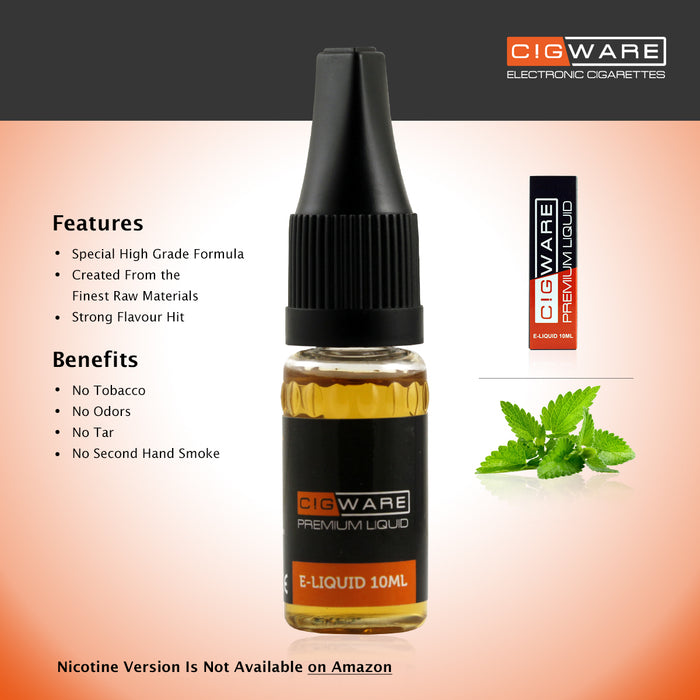 E-liquid, 10ml, 0mg, Menthol, Cigware