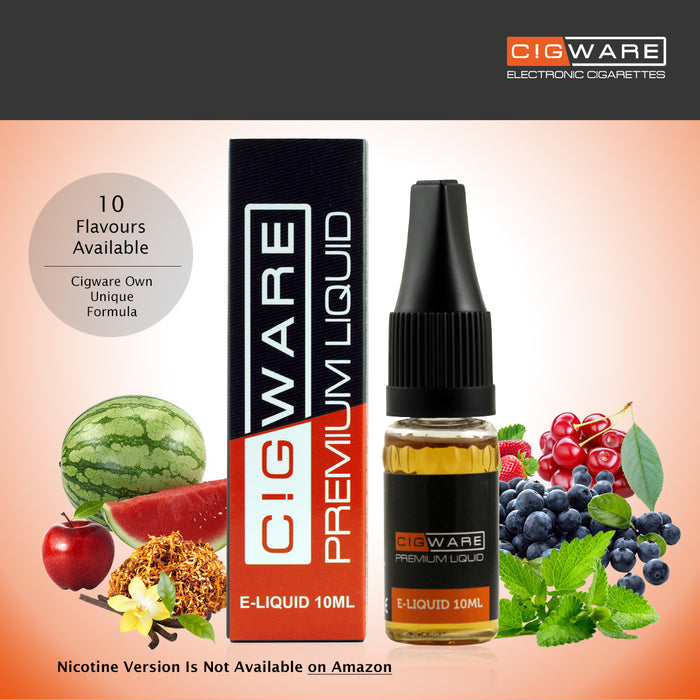 E-liquid, 10ml, 0mg, Strawberry, Cigware
