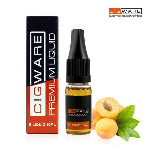 Cigware E liquid 10ml Bottle | Peach Flavour | Best Custom Forumla Only | Refill For E cigarette and E Shisha | Money Back If Unsatisfied