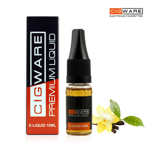 Cigware E liquid 10ml Bottle | Vanilla Flavour | Best Custom Forumla Only | Refill For E cigarette and E Shisha | Money Back If Unsatisfied