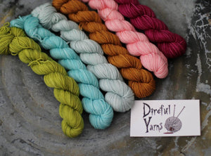Spring Tonal Mini Skein Set {Slasher} 75/25 SW Merino/Nylon