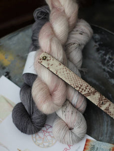 Audra Wrap Kit - Neutrals {Slasher Sock} 75/25 SW Merino/Nylon Fingering Weight