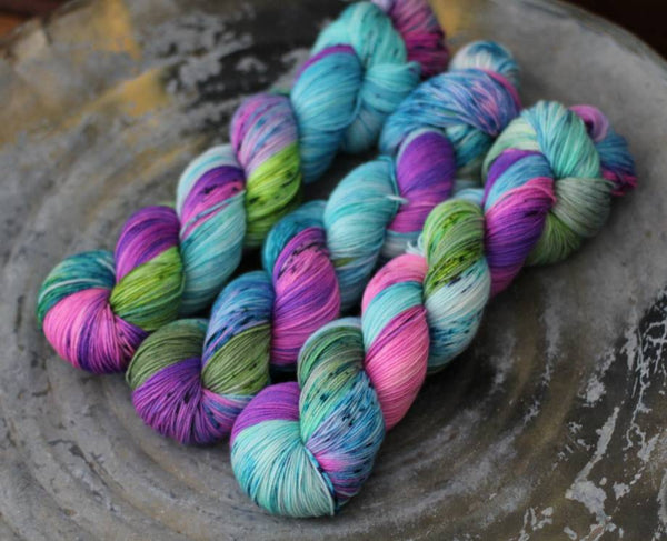 Zombie Unicorn {Slasher Sock} 75/25 SW Merino/Nylon Fingering Weight