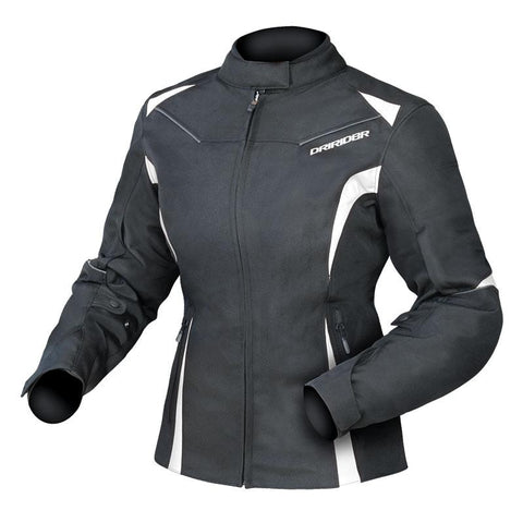 DRIRIDER LADIES JEWEL 2 JACKET - BLACK / WHITE