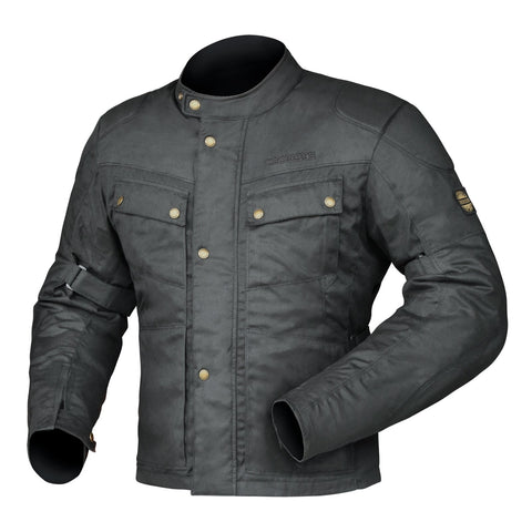DRIRIDER BROOKLANDS JACKET BLK SML CLASSIC WAX COTTON