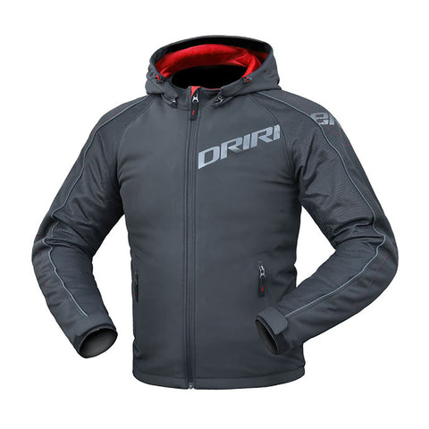 DRIRIDER ATOMIC HOODY JACKET - BLACK