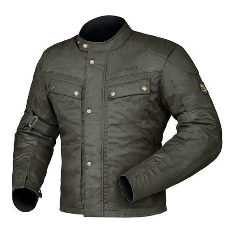 DRIRIDER BROOKLANDS JACKET BRWN MED CLASSIC WAX COTTON