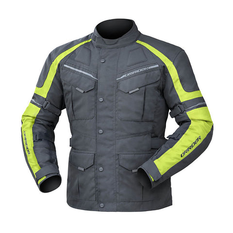DRIRIDER COMPASS 3 JACKET - BLACK/YELLOW