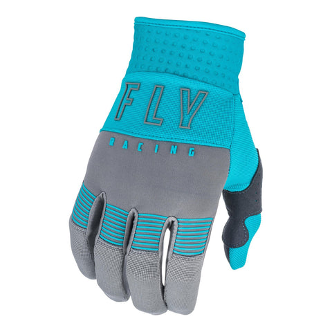 Fly 2021 F-16 Youth Glove - Grey / Blue